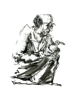 ink-sketch-man-kneeling-with-bird-people-by-frits-ahlefeldt-fss1