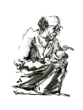 ink-sketch-man-kneeling-with-bird-people-by-frits-ahlefeldt-fss1