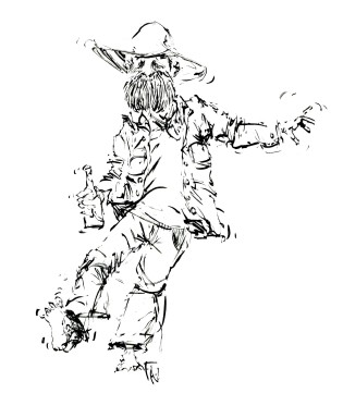 ink-sketch-man-looking-drunk-dancing-with-bottle-people-by-frits-ahlefeldt-fss1