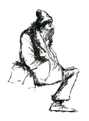 ink-sketch-man-with-hat-sitting-beard-bag-by-frits-ahlefeldt-fss1