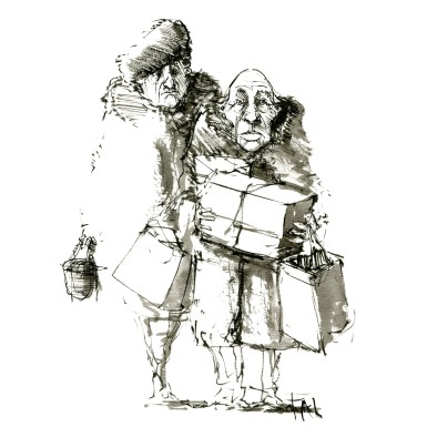 ink-sketch-old-couple-with-presents-by-frits-ahlefeldt-fss1