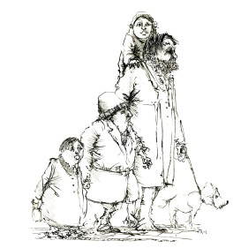 ink-sketch-strange-group-of-people-walking-by-frits-ahlefeldt