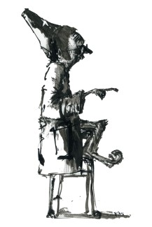 ink-sketch-strange-man-with-sable-shoes-sitting-on-chair-pointing-by-frits-ahlefeldt