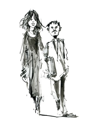 ink-sketch-tall-woman-little-man-walking-by-frits-ahlefeldt-fss1