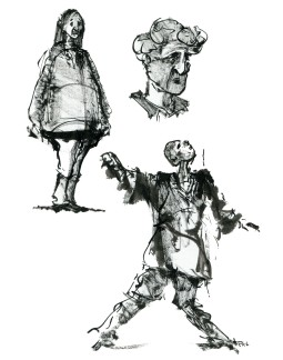 ink-sketch-three-people-alone-drawing-by-frits-ahlefeldt-fss1