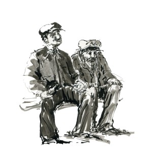 ink-sketch-two-old-men-sailors-sitting-at-bench-by-frits-ahlefeldt-fss1
