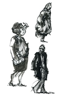 ink-sketch-two-women-and-mand-standing-by-frits-ahlefeldt-fss1