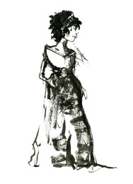 ink-sketch-woman-in-long-dress-black-hair-front-facing-people-by-frits-ahlefeldt-fss1