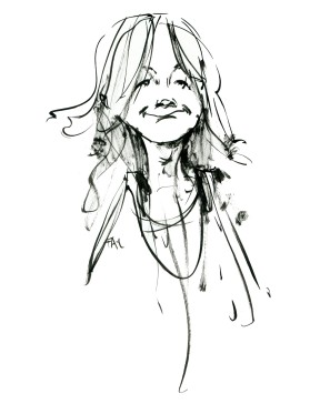 ink-sketch-woman-smiling-walking-by-by-frits-ahlefeldt-fss1