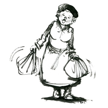 ink-sketch-woman-with-bags-walking-by-frits-ahlefeldt-fss1