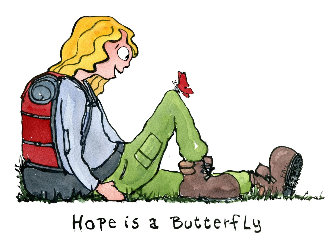 Hope is a butterfly