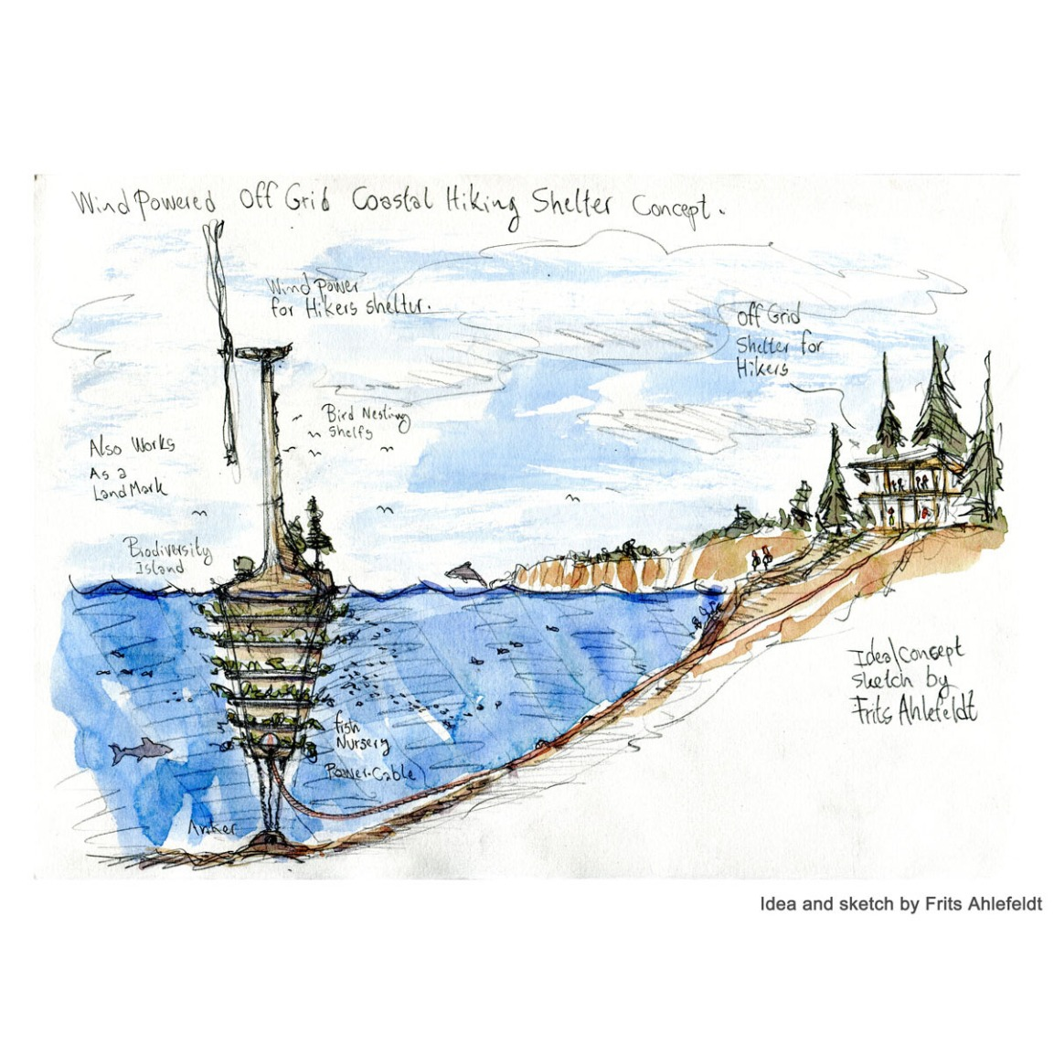 Seal island wind turbine biodiversityconcept